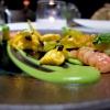 Favolosi gli Agnolotti, gamberi rossi, zucchine, fiori di zucca fritti, caviale oscietra Calvisius