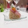 La nostra cena al Gambero Rosso nelle foto di Tanio Liotta. S'inizia con gli appetizer: Focaccina con lampuga, capperi e datterino giallo