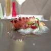 Polpo verace dello Ionio cotto a bassa temperatura, patataaffumicata, datterino giallo e rosso