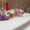 Tataki di ricciola, melanzana, fonduta di caciocavallo di Ciminà, salsa al datterino