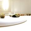 Okra fritta con calamaretto e shiso verde