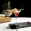 Il celebre Rossini di Fasolato: fragole, spuma di prosecco e gambero in tempura. La fotogallery è firmata Tanio Liotta