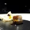 Ossobuco di calamaro, salsa gremolada, rösti di patate, gelato di risotto allo zafferano