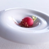 Radish with sesame brittle and cream of anchovies