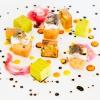 Il piatto di Philippe Levéillé,Cubismo di sarde di lago, salsa verde e verdure agrodolci(qui la ricetta). Tutte le foto sono diSonia Santagostino