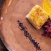 Buono il Filetto di ricciola cotto a basso temperatura, laccato al miele d'arancio, verdurine croccanti e mousse di patate al verdello...