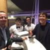Gianni Morandi al bar di Identità Expo