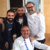 Bottura with the Costardi brothers and Peppe Zullo at Identità Expo