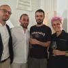 I fratelli Michele e Vincenzo Varvara della macelleria omonima di Altamura con la chef Cristina Bowerman e il suo sous