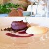 Cipolla caramellata all'uva fragola, zabaione al bitto dop, crumble di nocciole, di Fabio Silva
