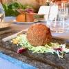 Pizzocchero sferico con cuore al bitto dop, insalatina di verza e grano saraceno: di nuovo una versione 2.0 dei pizzoccheri, di Antonio Borruso