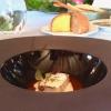 Incontro, ossia baccalà, salsa difeijoada, spuma di bitto e lime, la ricetta è di Marco Valli