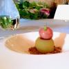 Cheesecake al bitto dop con mele selvariche e prugne, di Roberto Tonola
