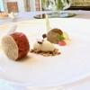 Terrina di foie gras, tartara di manzo, mela annurca, senape e dragoncello