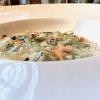 Piacevolissimo ilRisotto al limone di Amalfi, tartufi di mare, asparagi e yogurt di bufala. L'agrume è in 4 varianti: salato, cotto al forno, grattugiato, candito, poi c'è un po' di cedro
