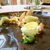Crostatina meringata al limone, tamarindo e wasabi