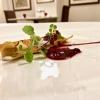 Cannolicchio, ravanello e barbabietola, con granita di ravanello, crema di rapa rossa, cialda di topinambur affumicato ed emulsione di ostrica. Buonissimo
