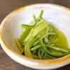 ...con asparagi schiacciati al'olio di cerfoglio e limone