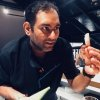 Gagganholds a cone