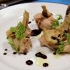 Terrina di fegatini di pollo, saba e marmellata di cipolle alla menta
