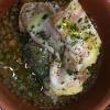 Baccalà, lenticchie e pancetta stufata di mora romagnola (autoprodotta)