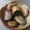 Waffle al pane di segale Borodinsky, ripieno di mousse di pesce spratto
