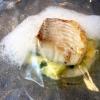 Merluzzo con porri, gelatina al finocchio e spuma al sapore di mare