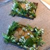 An interlocutory snack made of cod cheek