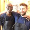Canella con Ali Sonko, il celebre lavapiatti gambiano del Noma, diventato socio