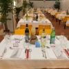 Nutrito il plotone di sponsor che ha voluto dare una mano alla rassegna:Grana Padano, Consorzio Italia del Vino,Birra Moretti, Acqua Panna e S.Pellegrino, caffè Lavazza