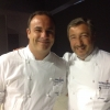 Angel Leon of restaurant Aponiente in Andalusia, mentor of the Spanish candidate, with Joan Roca, chef number one in the world according to the World's 50Best, at the helm of Celler de Can Roca in Cataluña