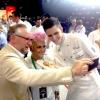 Dany Stauffacher, organiser of Sapori Ticino, takes a selfie with Cristina Bowerman and Paolo Griffa