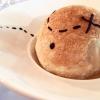 Caccia al tesoro: crosta alla cipolla soffiata, crema di patate e aglio, tartufo, lumache glassate al prezzemolo e le loro uova, mele di Ponte al calvados