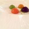 Acquerello di gnocchi: carota, piselli, peperoni, rapa. A noi hanno ricordato un piatto presentato da Viviana Varese a Identità Milano 2015