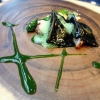 The dish by American Vinson Petrillo: Squid, chorizo, agnolotti with wagyu cheeks and parsley, emulsion of squid ink