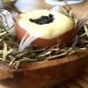 Uovo Florentine (2010), altro piatto ormai celebre: con caviale Oscietra uruguagio del Rio Negro, crema di spinaci e di zabaione
