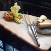 A close up of tripe and foie gras