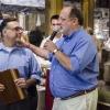 Nella foto con Paolo Marchi, Vince Gerasole, volto televisivo di Cbs 2 Chicago e affidabilissimo presentatore delle 7 lezioni di cucina diIdentità New York