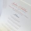 Uno dei molti menu firmati da Ribaldone