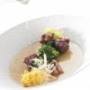 2012 – MINESTRA MARITATA – Antica minestra maritata, con sette verdure, due brodi e carne mista, croccantee crema di caciocavallo podalico stagionato