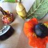 Un'immagine ravvicinata dei quattro assaggi. Sorprendente il rumore secco della nocciola schiacciata tra i denti. Quattro strepitoseidee per accompagnare cocktail vegetariani