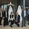 La famiglia Lavazza nell'headquarter. Da sinistra Antonella, Francesca, Manuela, Alberto, Giuseppe e Marco Lavazza(foto Alessandro Albert)