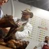 La carne di Paolo Parisi durante la lezione con Lorenzo Cogo (foto di Alfredo Chiarappa)