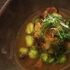 Patata al forno, fagioli, zucca, uovo ed acetosella