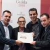 Il miglior chef straniero.Sara Peirone,Top Gastronomy Manager Gruppo Lavazza premiaOriol Castro, Mateu Casañas e Eduard Xatruch diDisfrutar – Barcellona