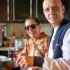 Nancy Silverton e Franco Pepe. Foto di Luciano Furia