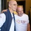 Franco Pepe con Michael Krikorian, scrittore e giornalista. Foto Luciano Furia