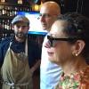 Franco Pepe con Nancy Silverton e Denis Dello Stritto. Foto di Paolo Marchi
