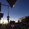 Il tramonto di domenica 12 febbraio in una città, Los Angeles in California, famosa anche per il Sunset Boulevard, il viale del tramonto, quello del sole ma anche delle persone e dei loro sogni. Foto di Paolo Marchi