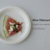 L'Anguria con quartirolo e menta di Alice Delcourt, chef dell'Erba Brusca